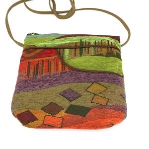DANNY K Beverly Hills Tapestry Artsy Crossbody Bag